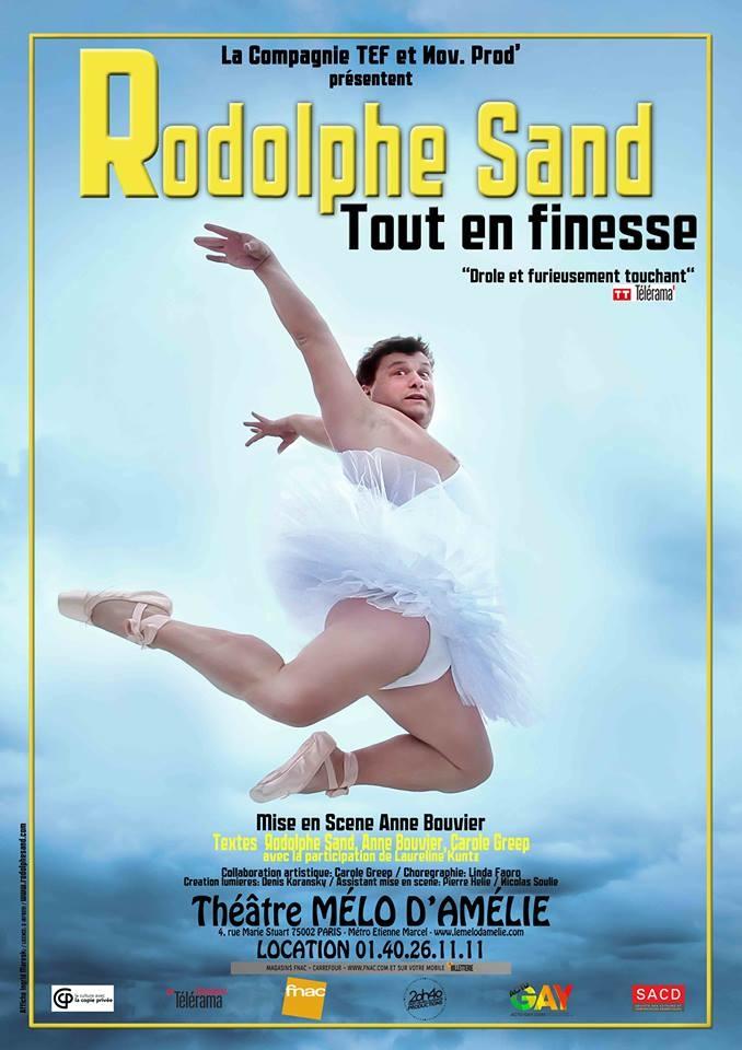 """One man show : Rodolphe Sand, """"Tout en finesse"""" (gagnez vos places)"""