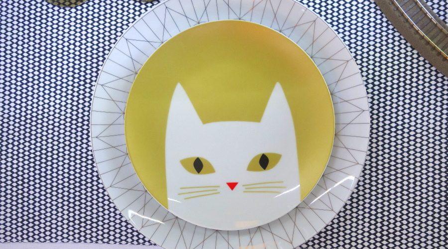 Assiette chat Monoprix Noël 2015