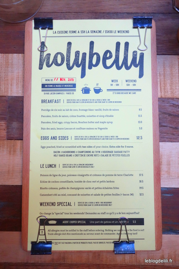 Où bruncher à Paris (60) : Holybelly