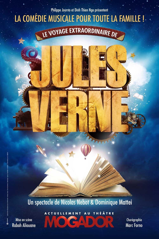 """La comédie musicale familiale """"Le voyage extraordinaire de Jules Verne"""" au théâtre Mogador"""