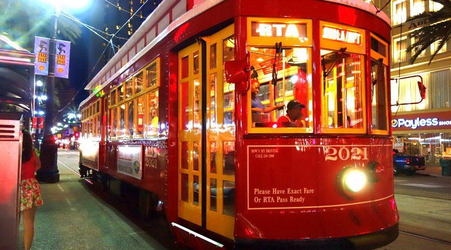 Le tramway de la Nouvelle-Orléans, en Louisiane