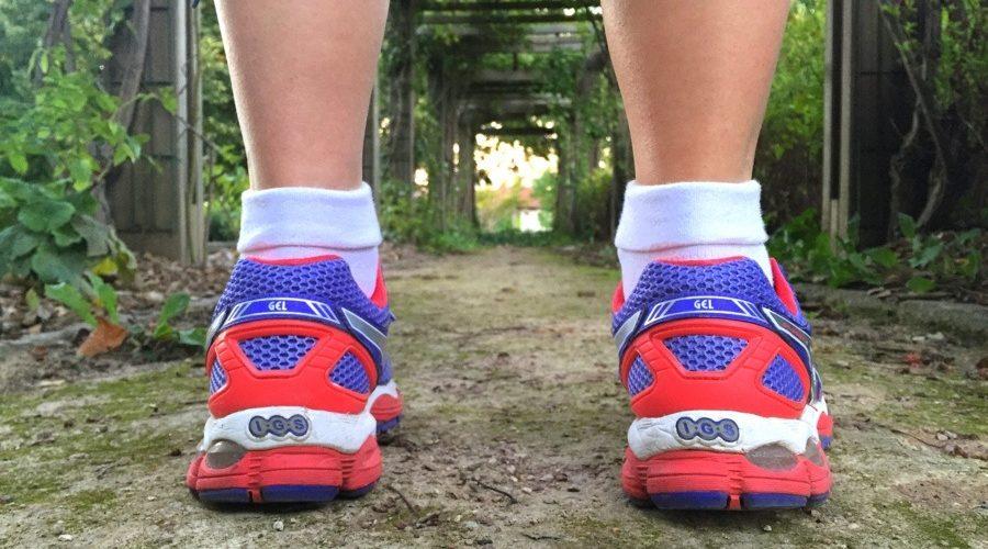 Running avec baskets Asics