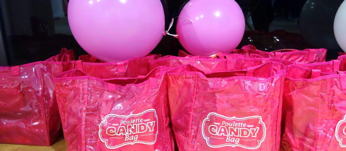Les Poulette bags de la Poulette Candy Party