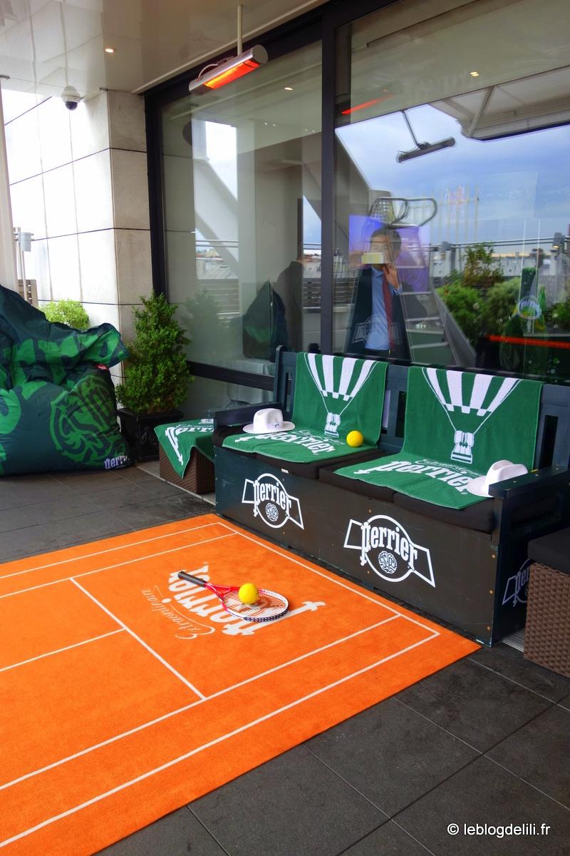 Un peu de Roland Garros sur la terrasse du restaurant Maison Blanche avec Perrier