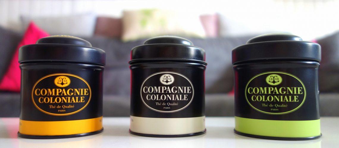 Compagnie coloniale : trois petites boites de thé