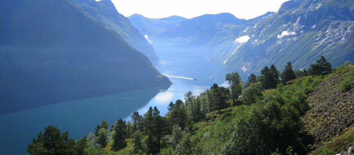 Fjord en Norvège