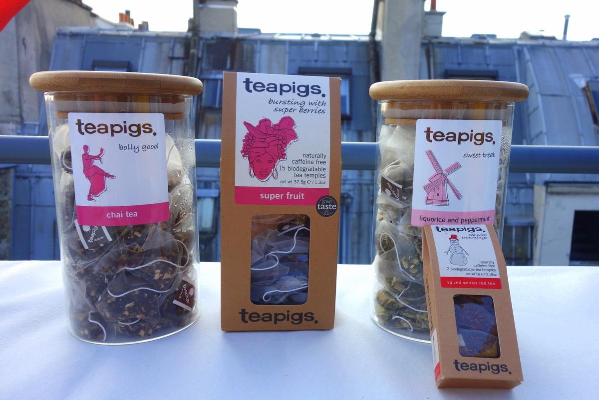 Les thés Tea Pigs lors de la présentation #lkpress