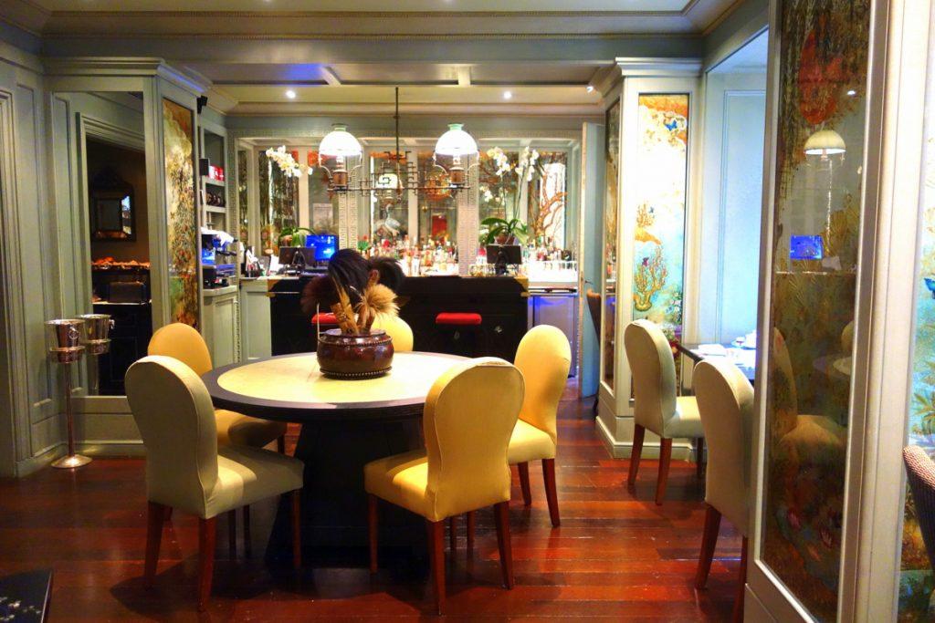 La salle de restaurant de l'hôtel Daniel