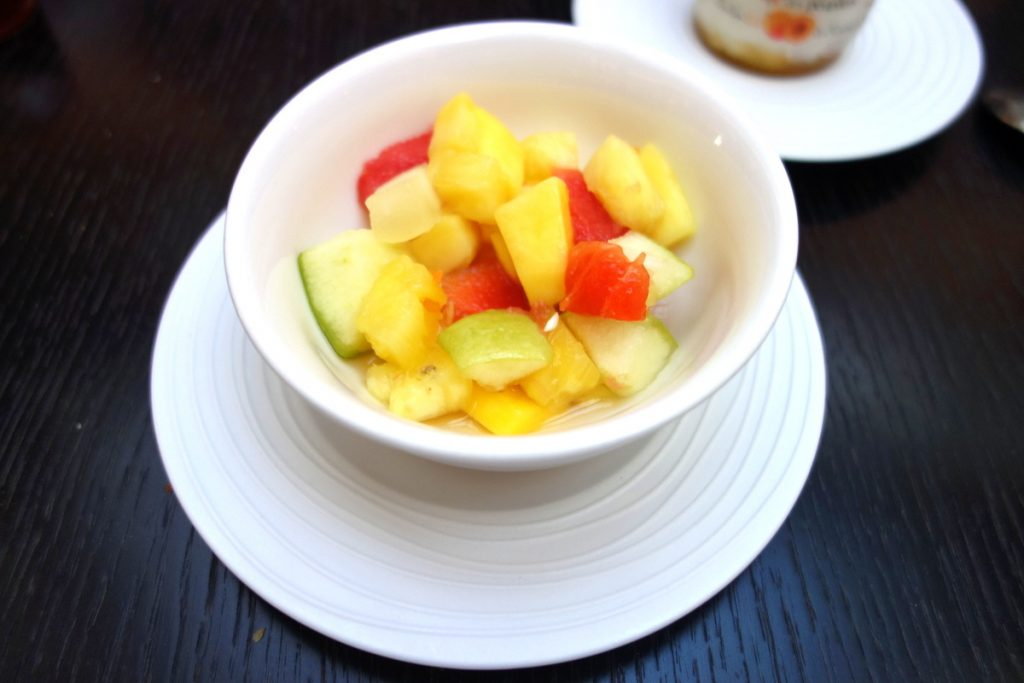 Ma salade de fruits à l'hôtel Vernet