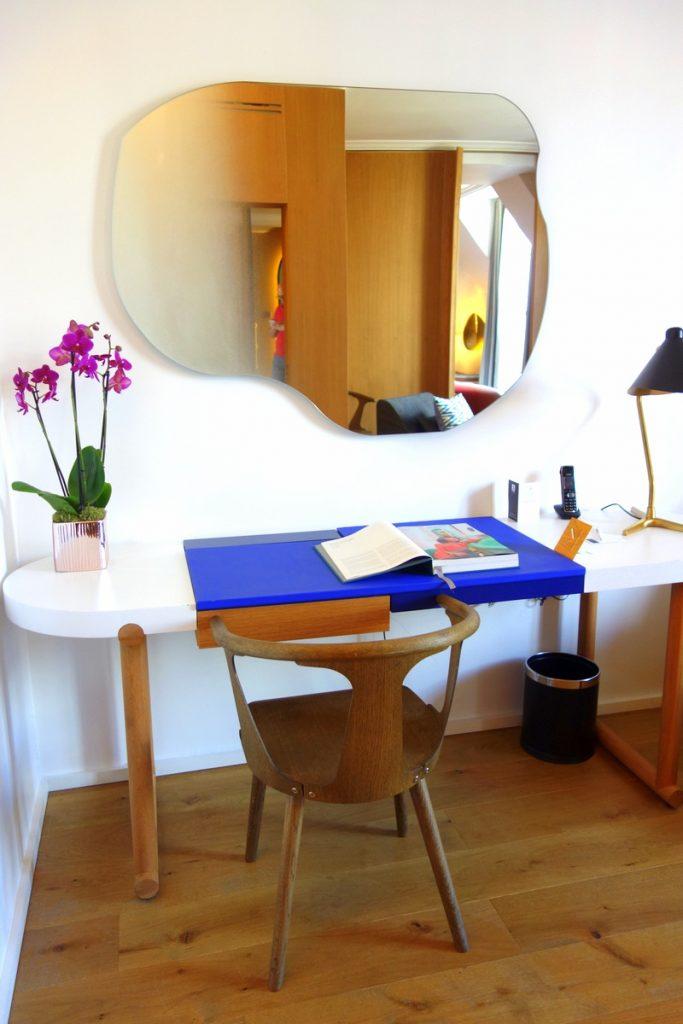 Le salon de notre suite à l'hôtel Vernet