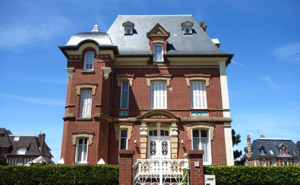 Les maisons du centre ville d'Houlgate dans le Calvados