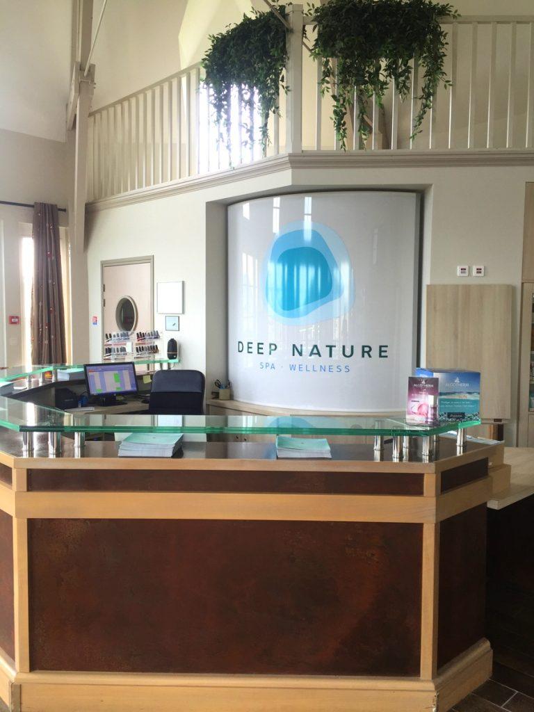 La réception du spa Deep nature de Houlgate
