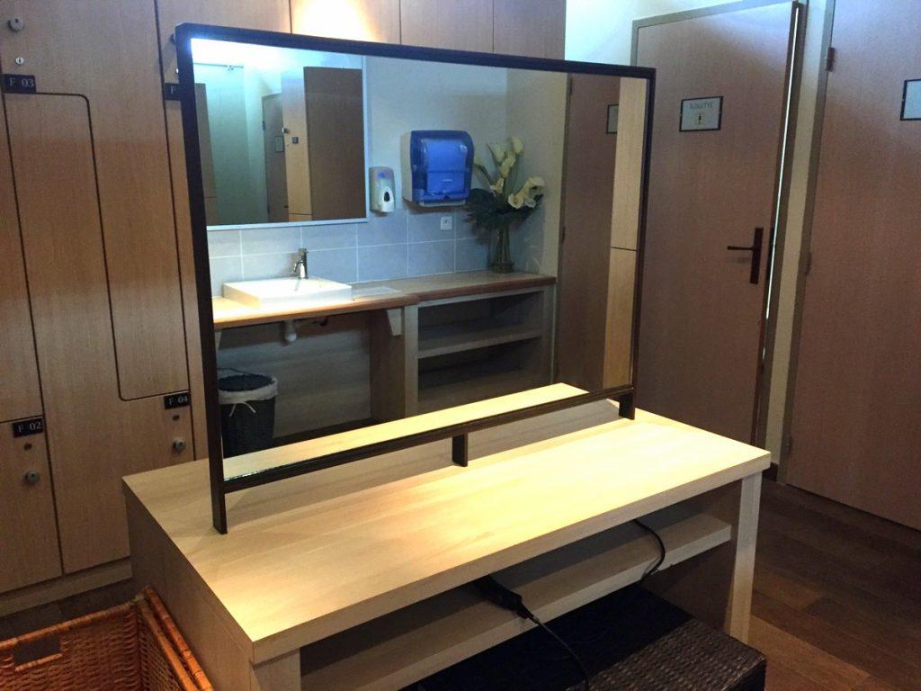 Le vestiaire du spa Deep nature de Houlgate
