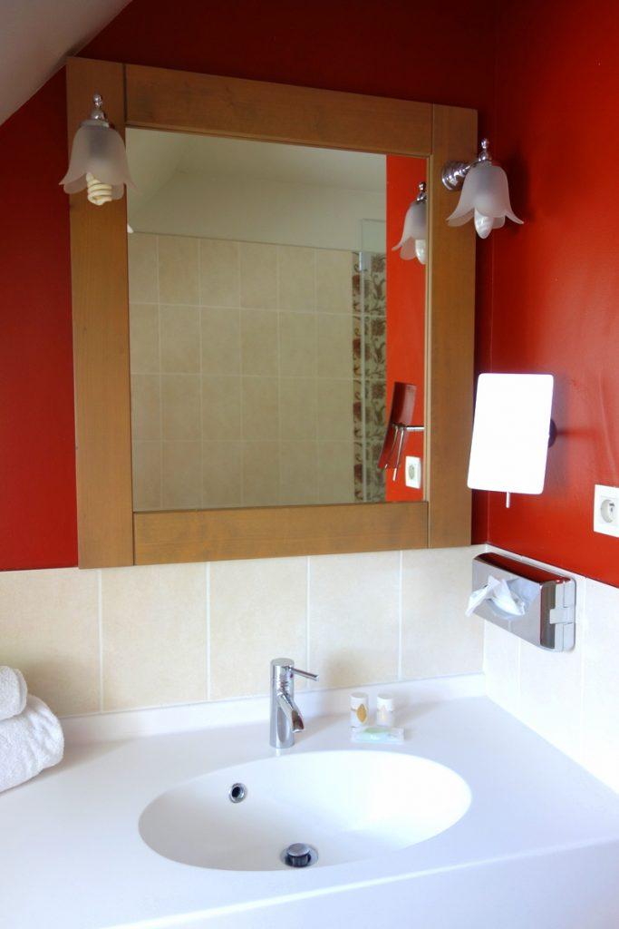 Notre salle de bains à la résidence premium Pierre & vacances à Houlgate