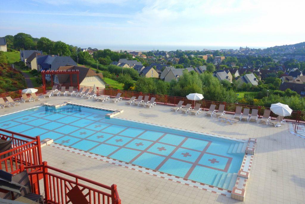 La vue depuis le balcon de notre appartement à la résidence Pierre & vacances de Houlgate