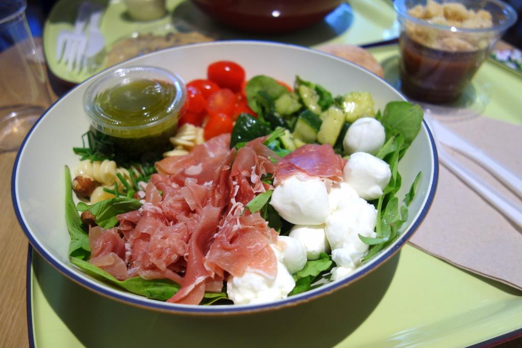 Ma salade Green Pasta chez Jour