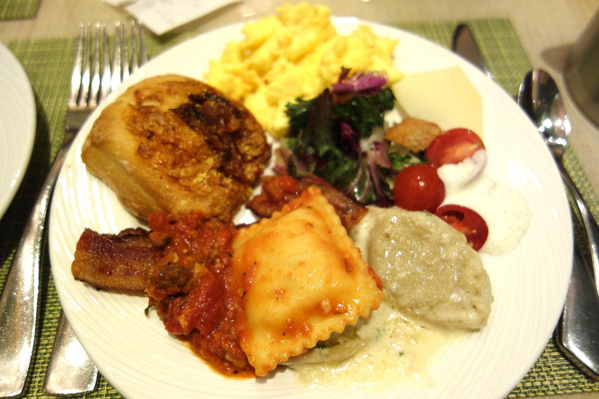 Le petit-déjeuner du buffet du Wynn Las Vegas côté salé