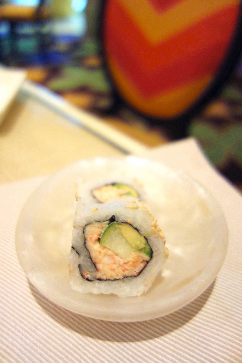Petite gourmandise venue du stand asiatique du buffet du Wynn