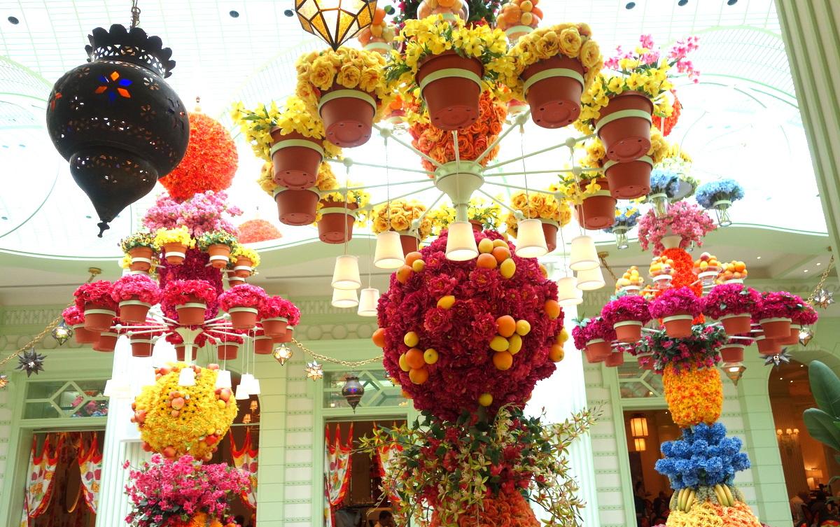 L'incroyable décoration florale du buffet du Wynn Las Vegas