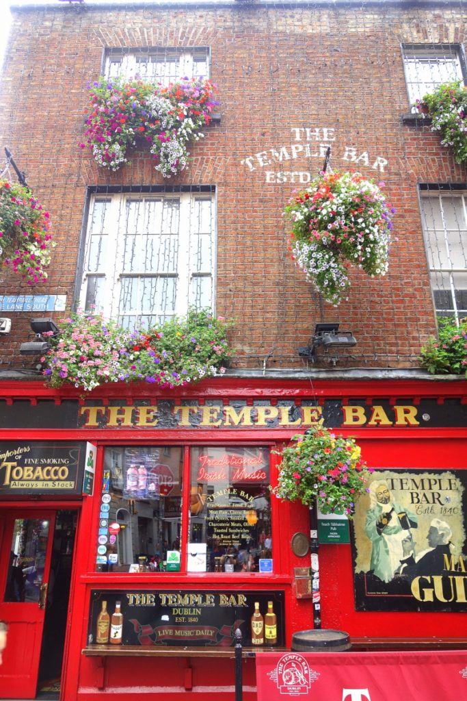 The Temple bar à Dublin