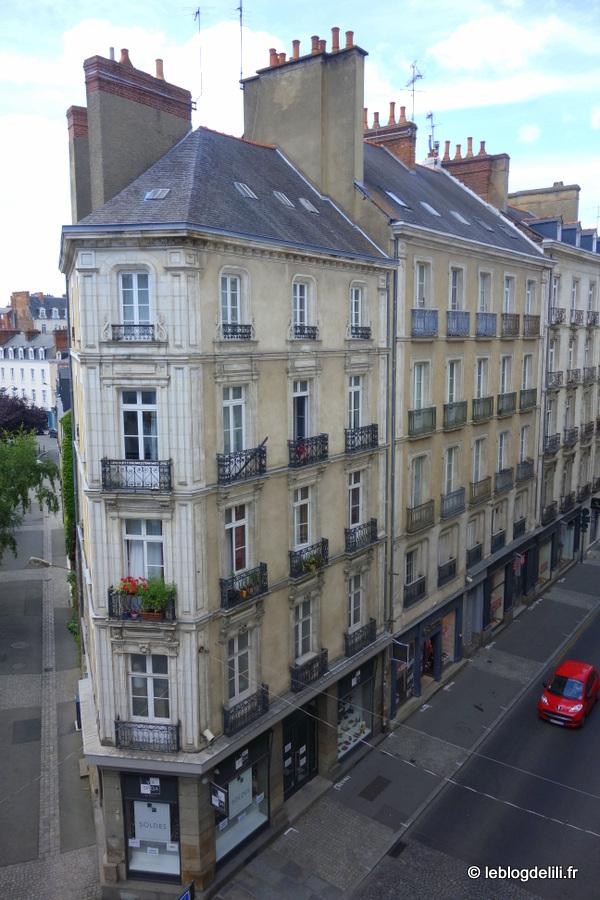 Notre chambre à l'hôtel de Nemours à Rennes : la vue