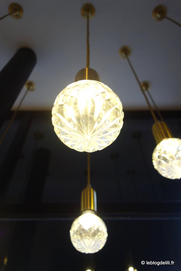 Les jolies ampoules de l'hôtel de Nemours à Rennes