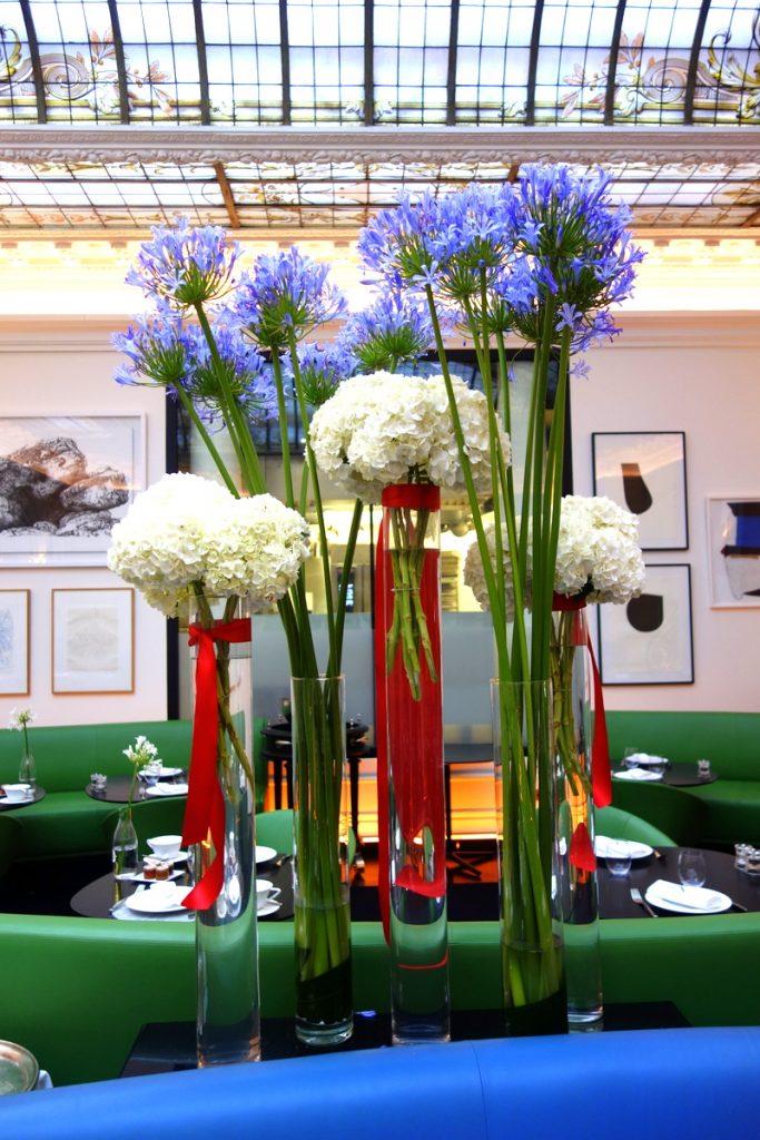 La décoration du restaurant de l'hôtel Vernet