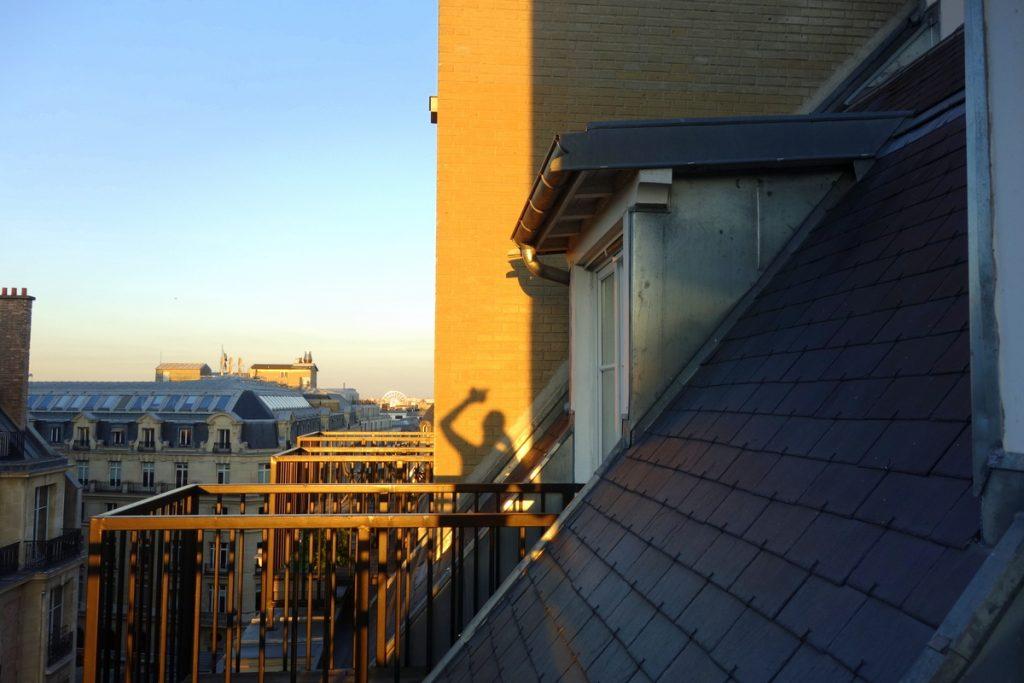 La vue depuis notre suite à l'hôtel Vernet