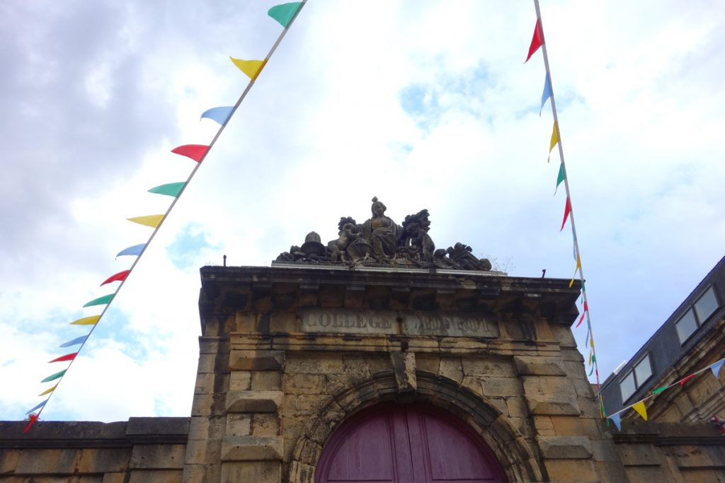 L'entrée du collège Diderot de Langres