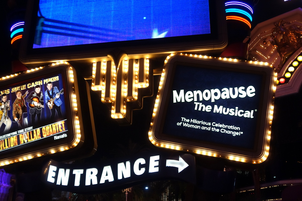 """Publicité pour le spectacle """"Menopause"""" à Las Vegas"""