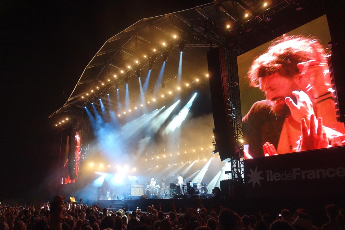 Concert sur la grande scène à Rock en Seine