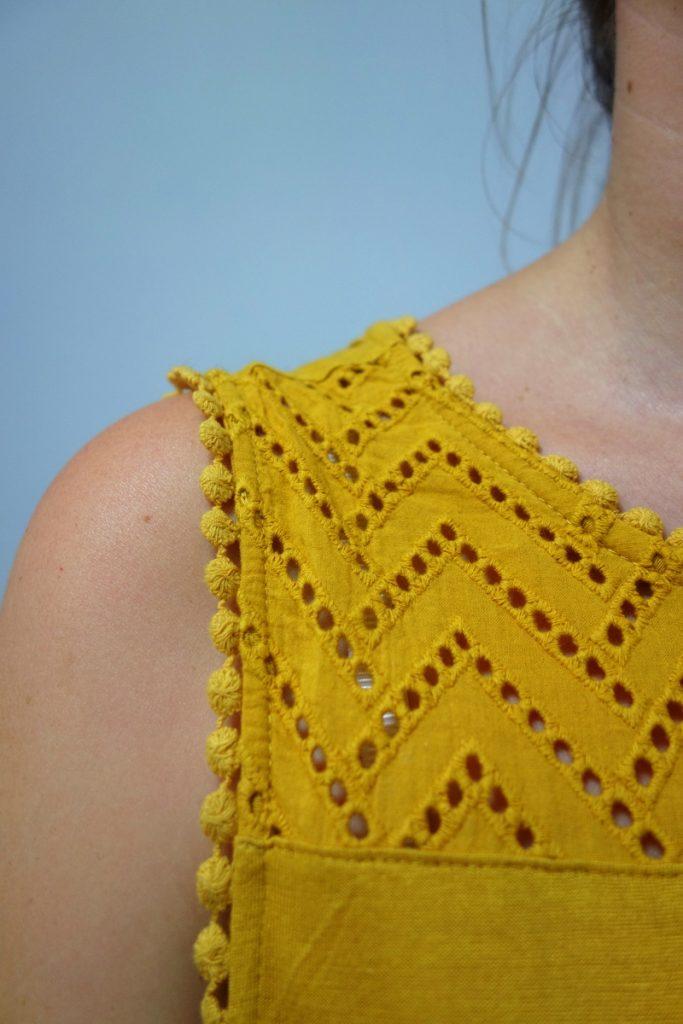 Shopping d'une ambassadrice Vélizy 2 : robe jaune Etam