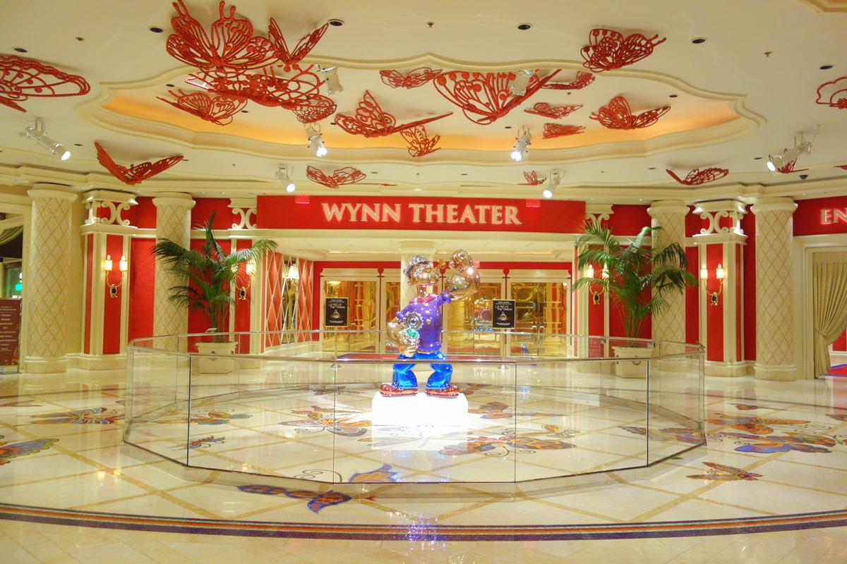 Le Wynn a sa salle de spectacle et des œuvres
