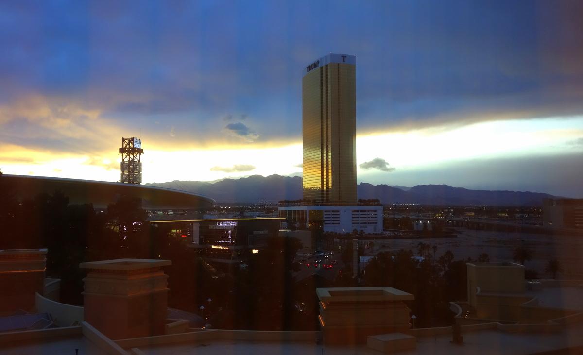 La vue de notre chambre au Wynn Las Vegas