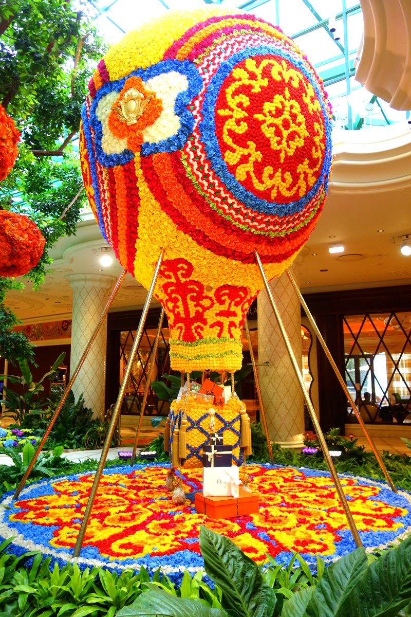 Une montgolfière de fleurs fraîches : c'est ça le Wynn Las Vegas !