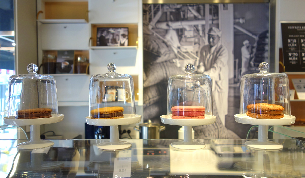 La boutique du chocolatier Michel Cluizel, à Madeleine à Paris
