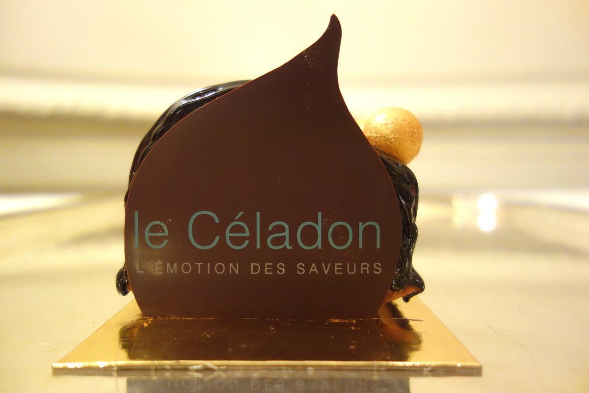Bûche 2016 au chocolat - Le Céladon - Hôtel Westminster
