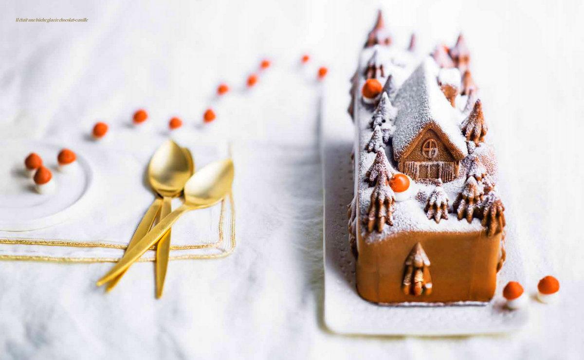 Bûche glacée au chocolat Picard surgelés Noël 2016
