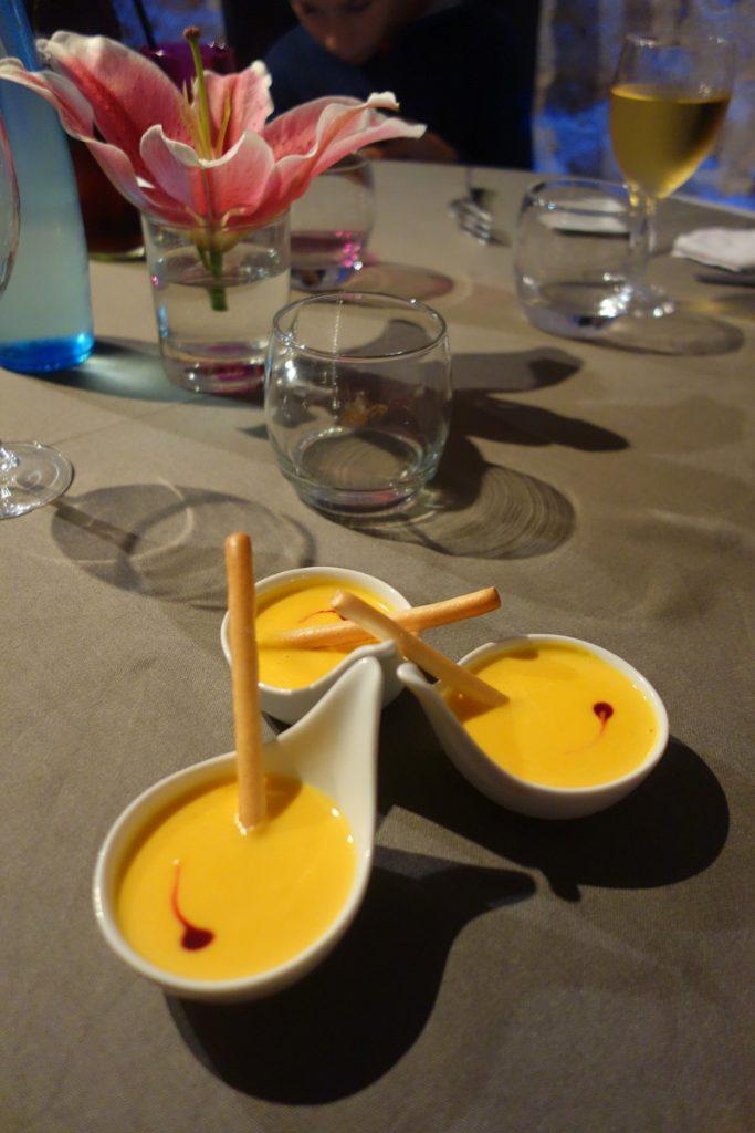 Restaurant le caveau des lys à Fontainebleau : mise en bouche
