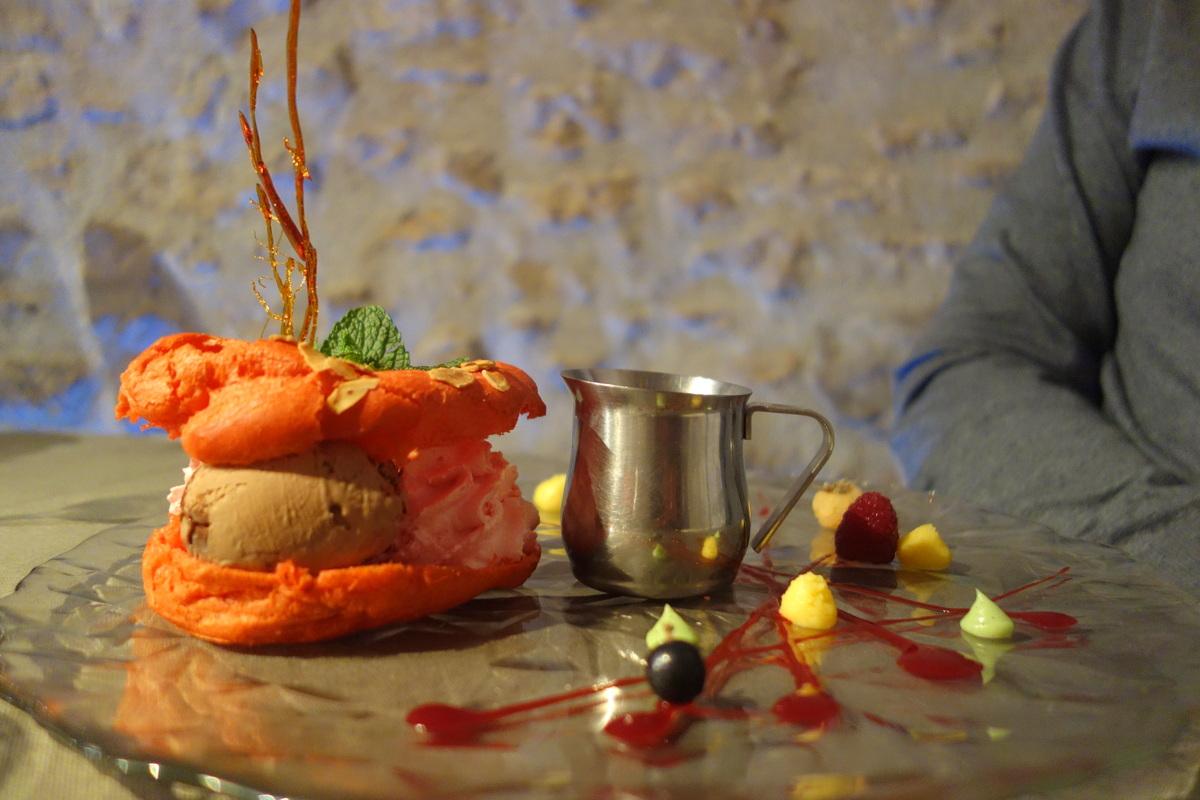 Restaurant le caveau des lys à Fontainebleau : profiteroles