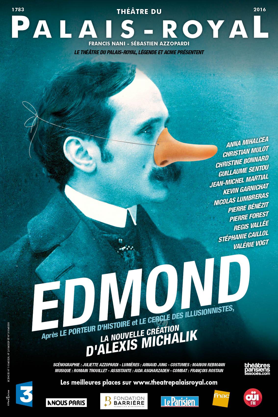 Edmond, une pièce d'Alexis Michalik au théâtre du Palais royal