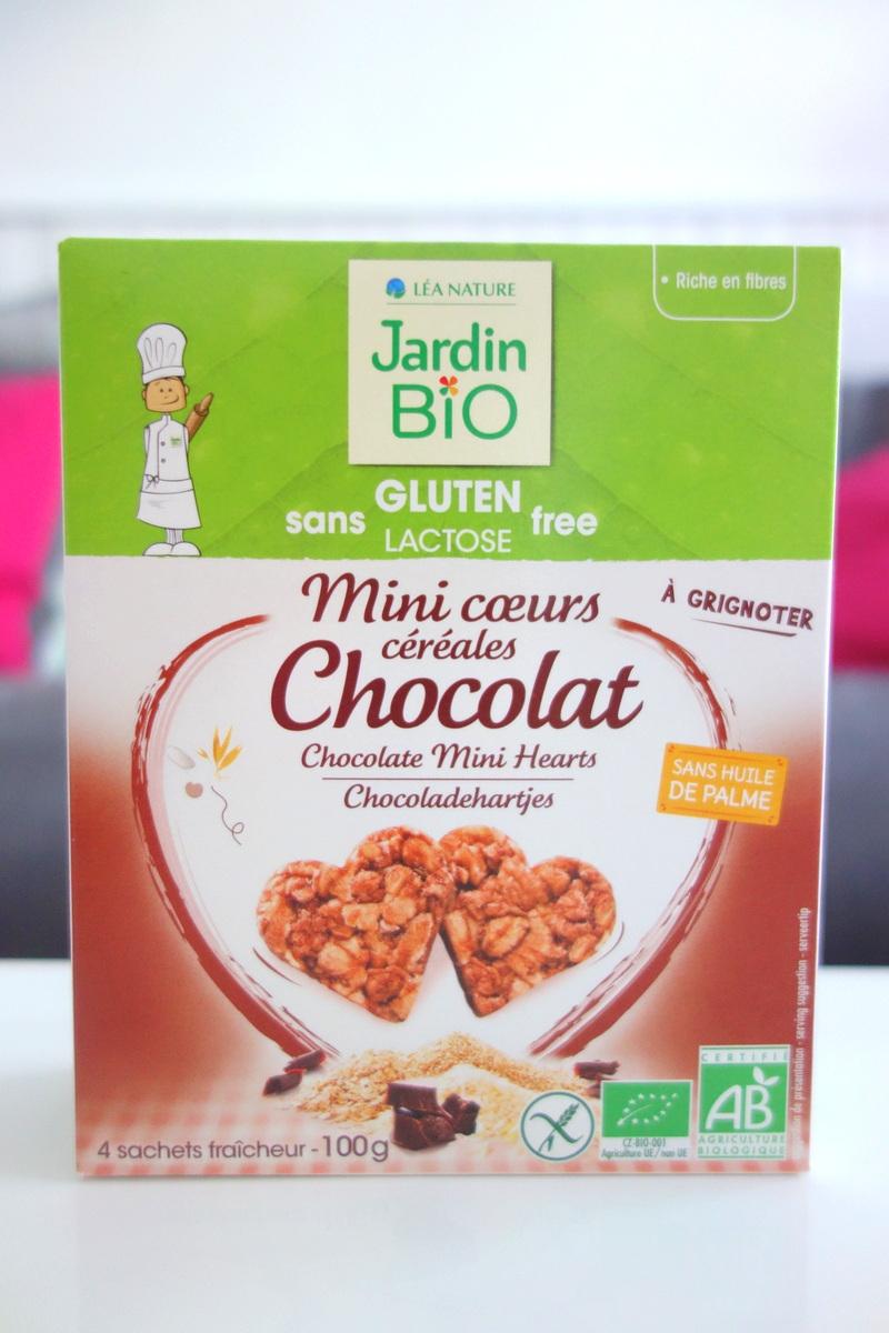 Mini-cœurs céréales chocolat