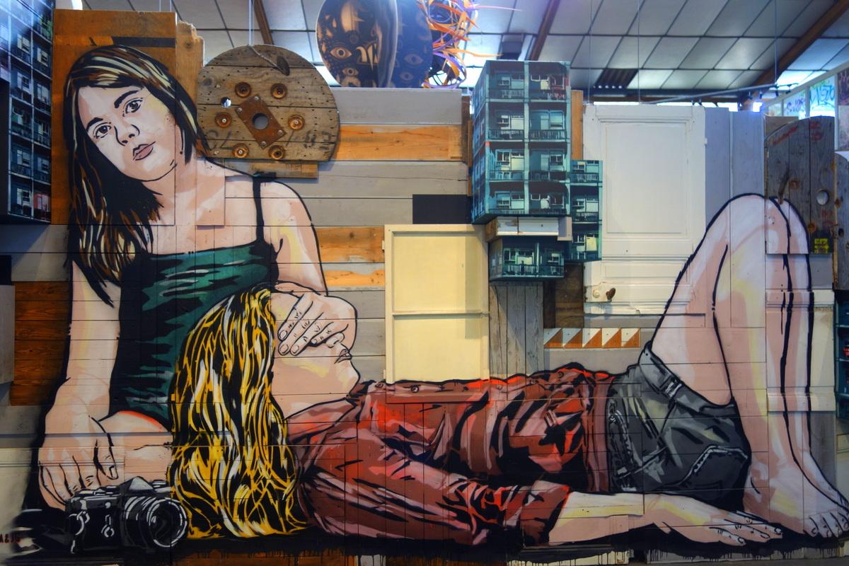 La réserve Malakoff - Lieu éphémère dédié au street art - Photo : le blog de Lili
