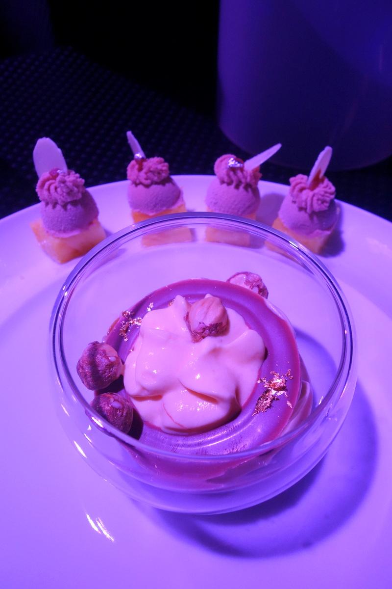 Texture café émulsion Maracuja : le plat de Yannick Tranchant pour la soirée de la gastronomie Lavazza