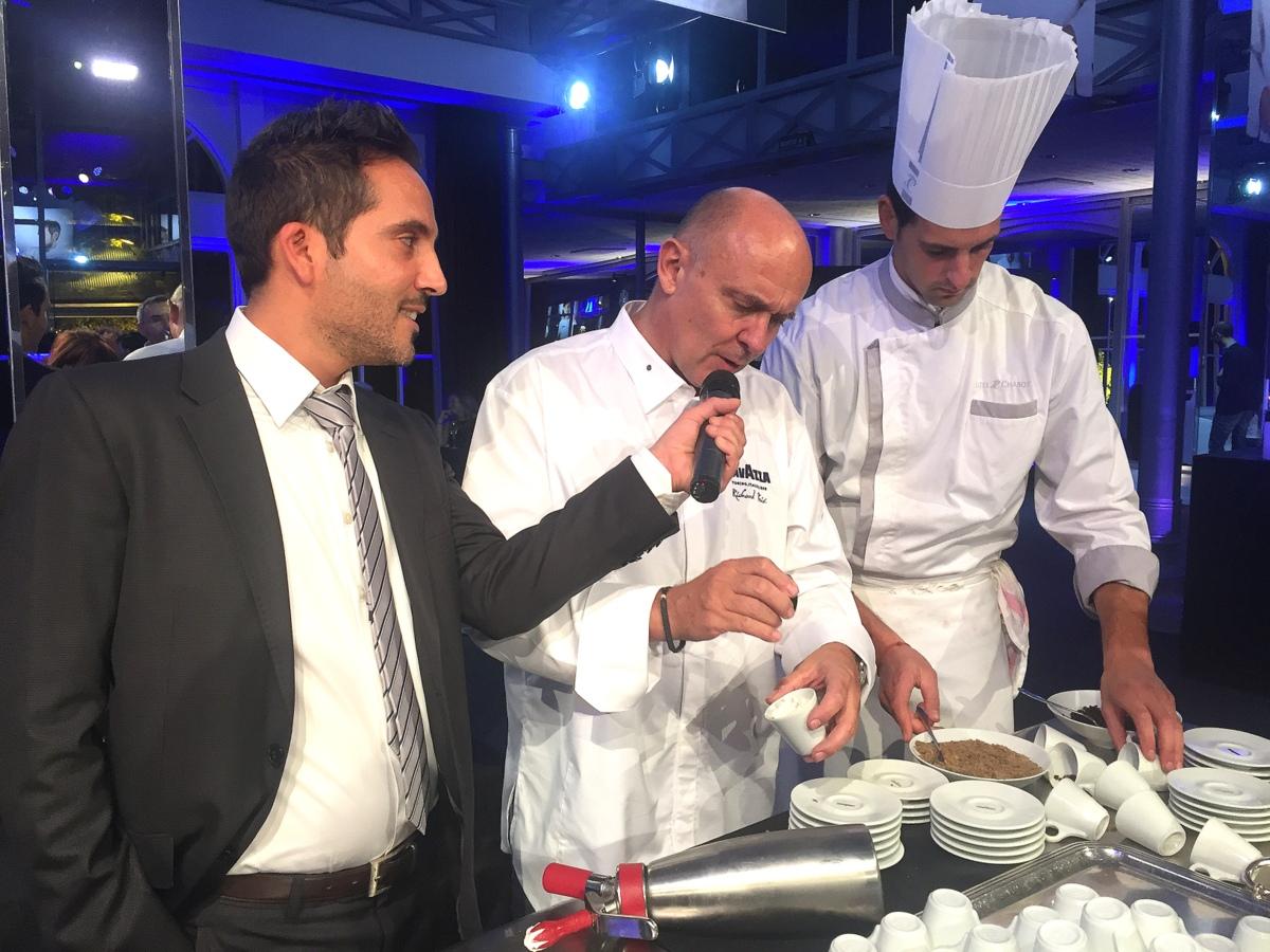 Manslois café, le fromage autrement : le plat de Richard Toix pour la soirée de la gastronomie Lavazza