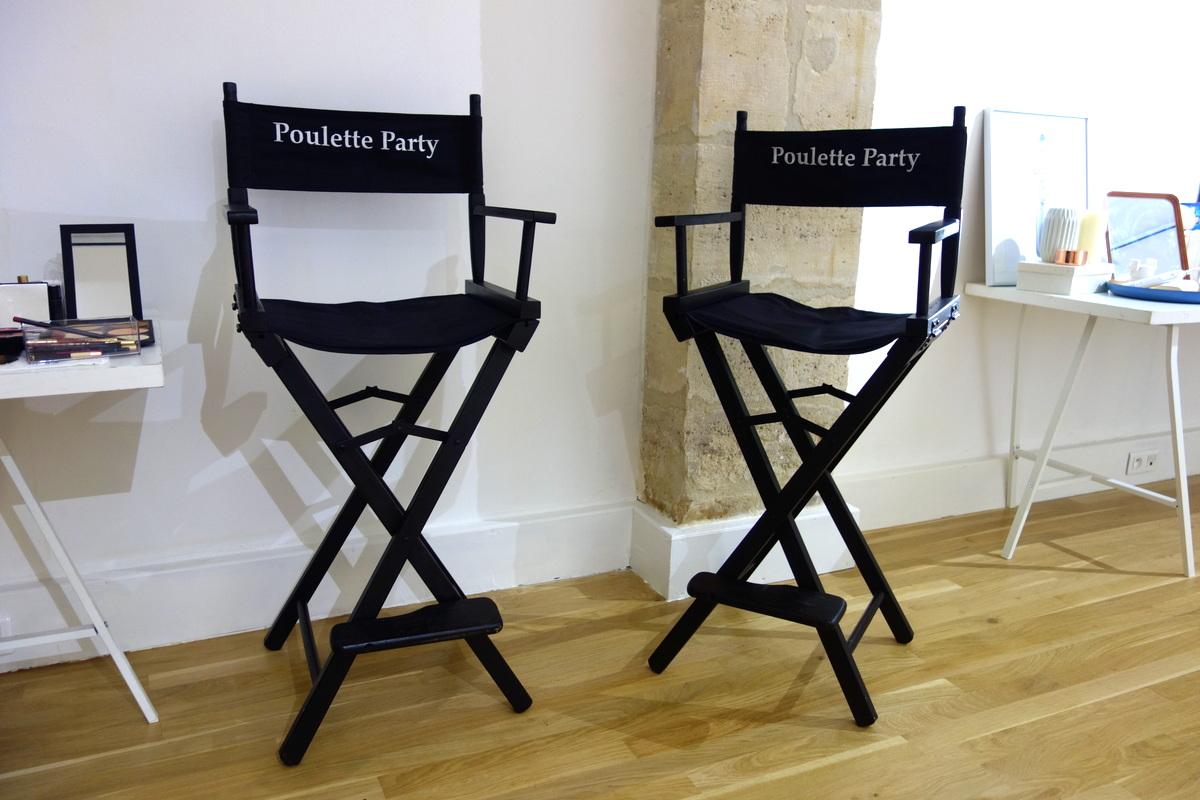 Poulette Party : les sièges maquilleurs