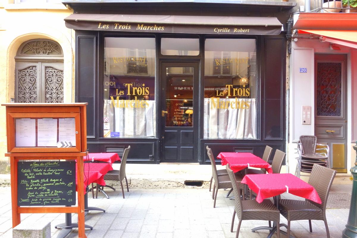 Goûts d'Yvelines : le restaurant les trois marches à Versailles