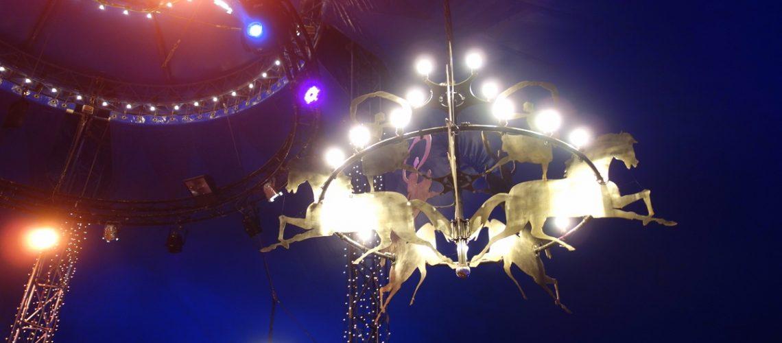 La jolie décoration du chapiteau d'Alexis Gruss