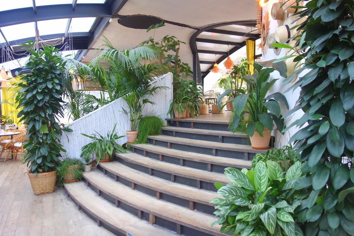 Les grands escaliers de Polpo brasserie
