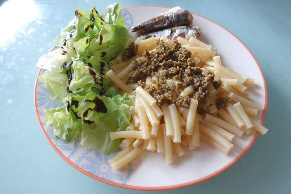 Mangeons gourmand - Monoprix - pesto et sardines